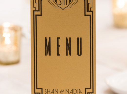 Table menu tecoration