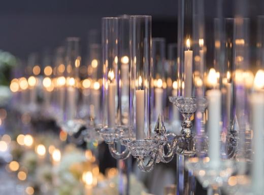 teble wedding decor - candles (2)
