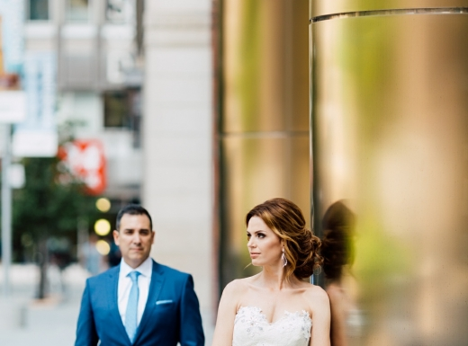 Bride-and-groom-with flowers