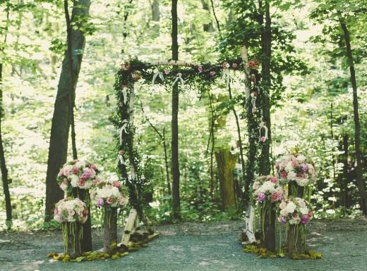 organig wedding flower decor-2