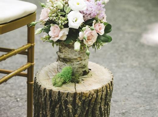 organig wedding flower decor-3