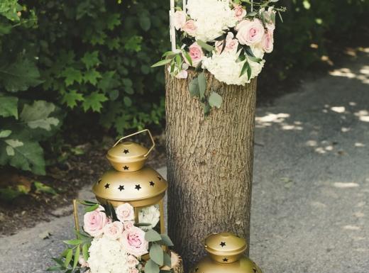 organig wedding flower decor