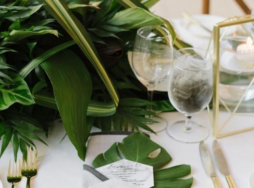 green floral decor for wedding (1)