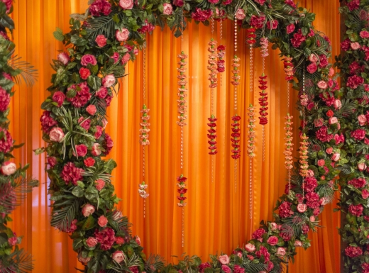 Flower wall backdrop decoration by Flowerstime (5)