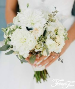 Dahlias bridal bouquet Toronto