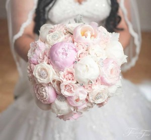 Peonies bridal bouquet Flowers Time Toronto