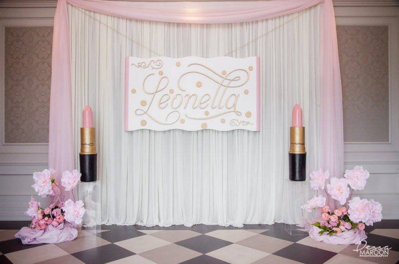 Bat Mitzvah flower decor