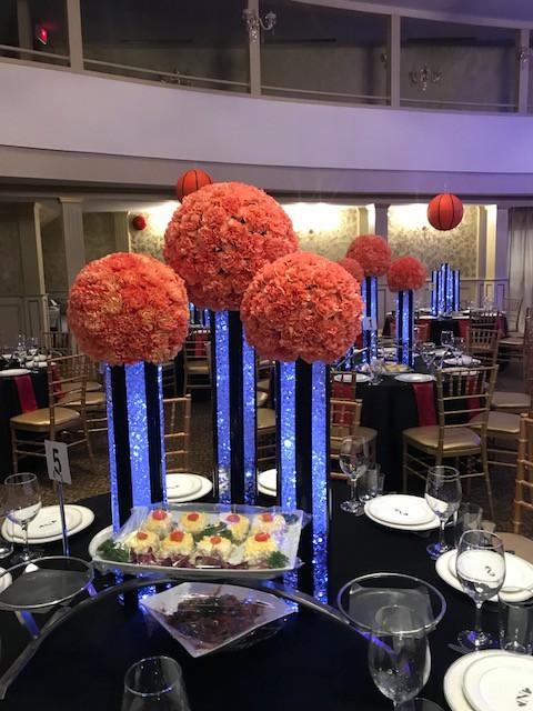 Bar Mitzvah Flower decorations