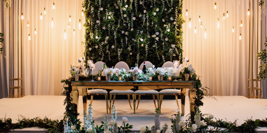 Floral event backdrop