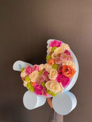 Baby Stroller Flower Box